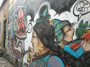 Street art in La Paz, Bolivia 2014.