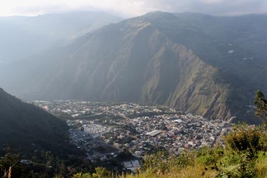 South America's endlessly beautiful views. Baños, Ecuador.