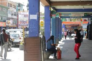 Downtown Huaraz, Peru.