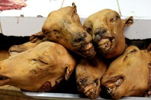 Huaraz meat market.