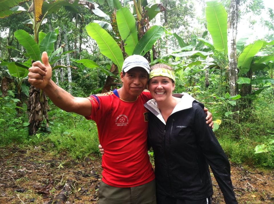 With our guide, Javier, in the jungle.